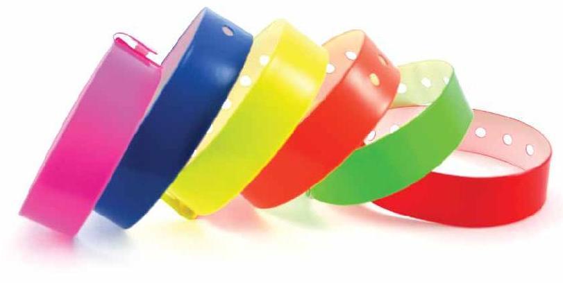 Бумажные браслеты цвета